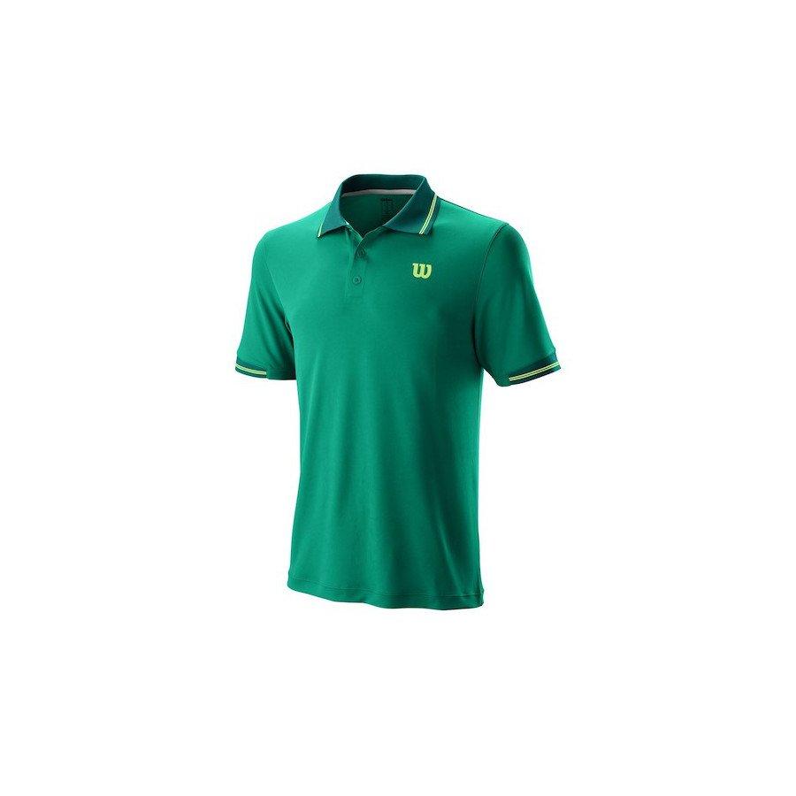 Wilson Tennis Shirt (2019 Men's Star Tipped Polo) from Tennis Shop