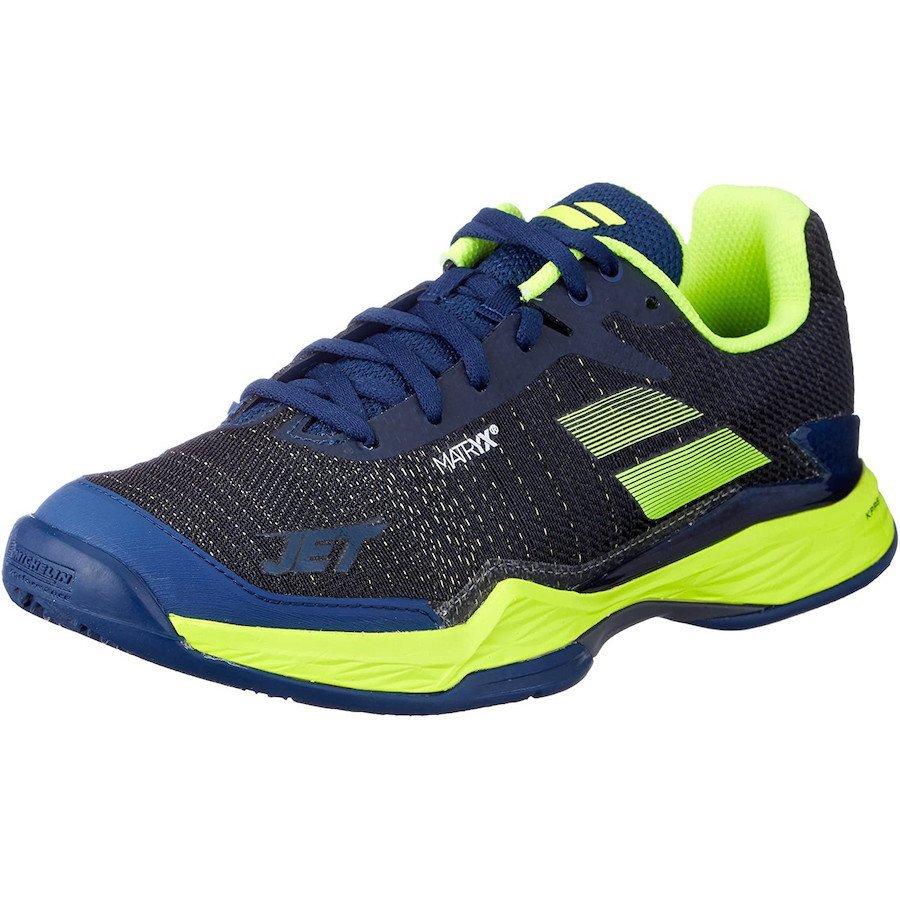 Babolat Tennis Shoes – Jet Mach II for Men (black-yellow-blue)
