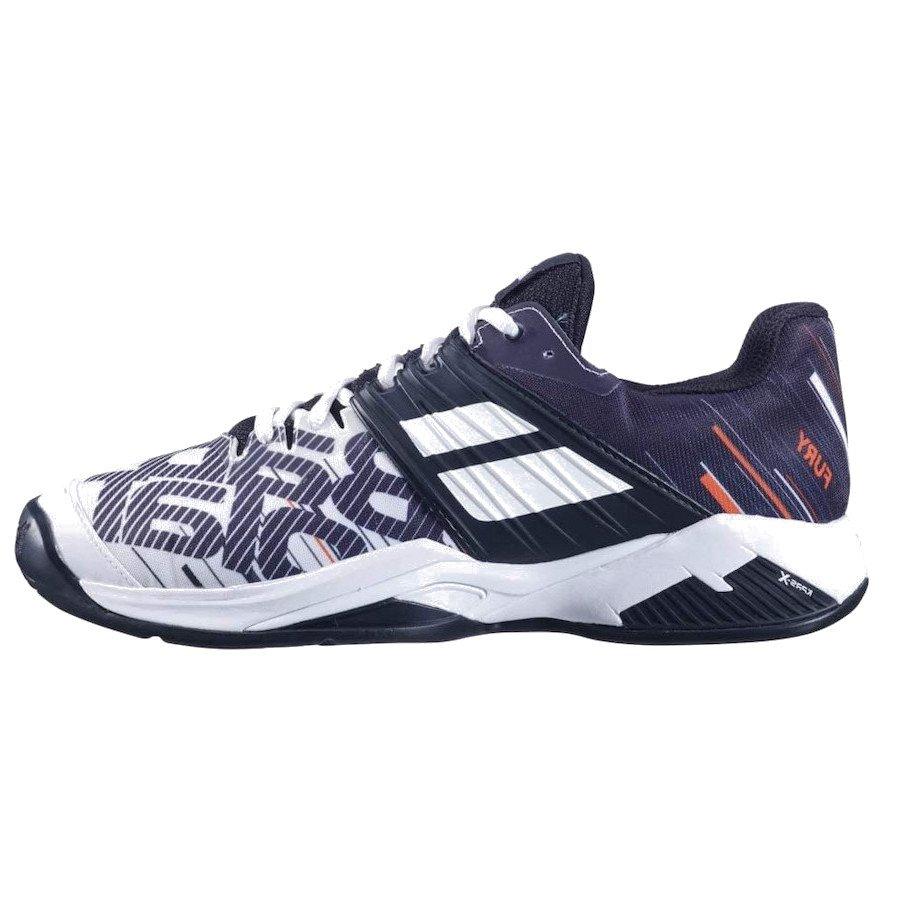 Babolat Tennis Shoes – Propulse Fury Clay for Men (White-Black)
