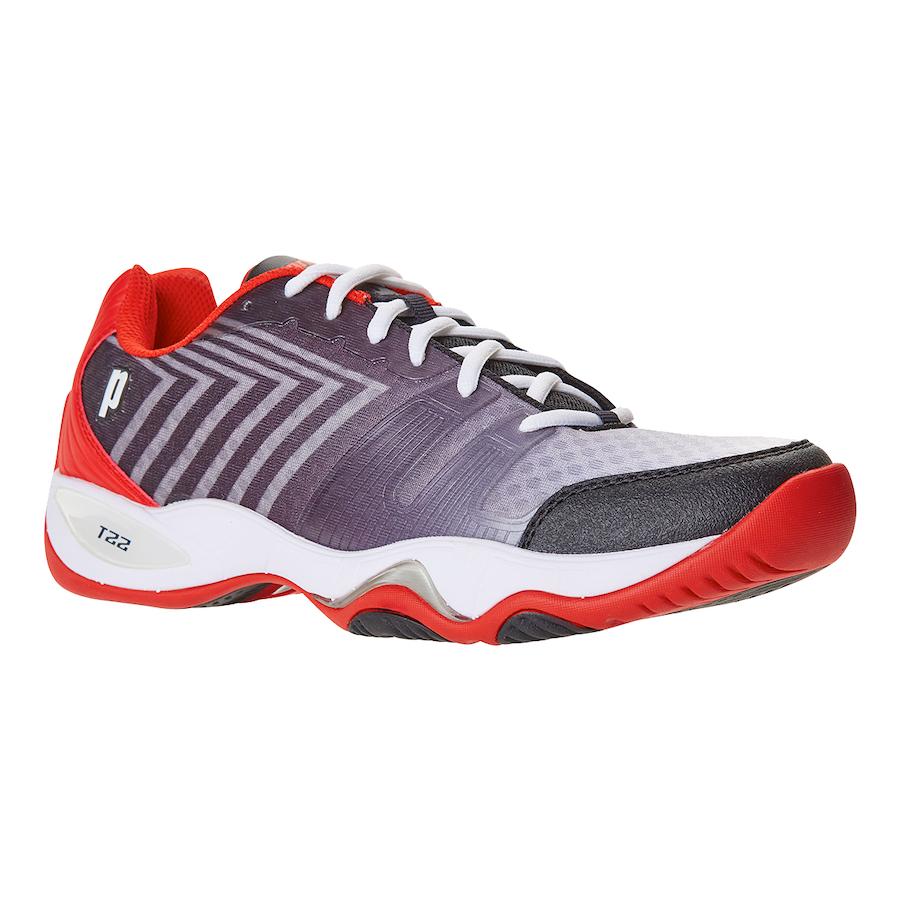 Prince Tennis Shoes – T22 LITE Black-White-Red (Men)
