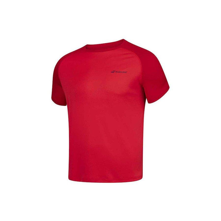 Babolat Tennis Apparel – Men's Play Crew Neck Training Tee (Red)