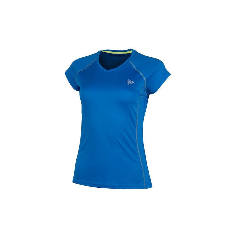 Dunlop Tennis Clothing – WOMEN'S CREW TEE CLUB LINE (Blue)