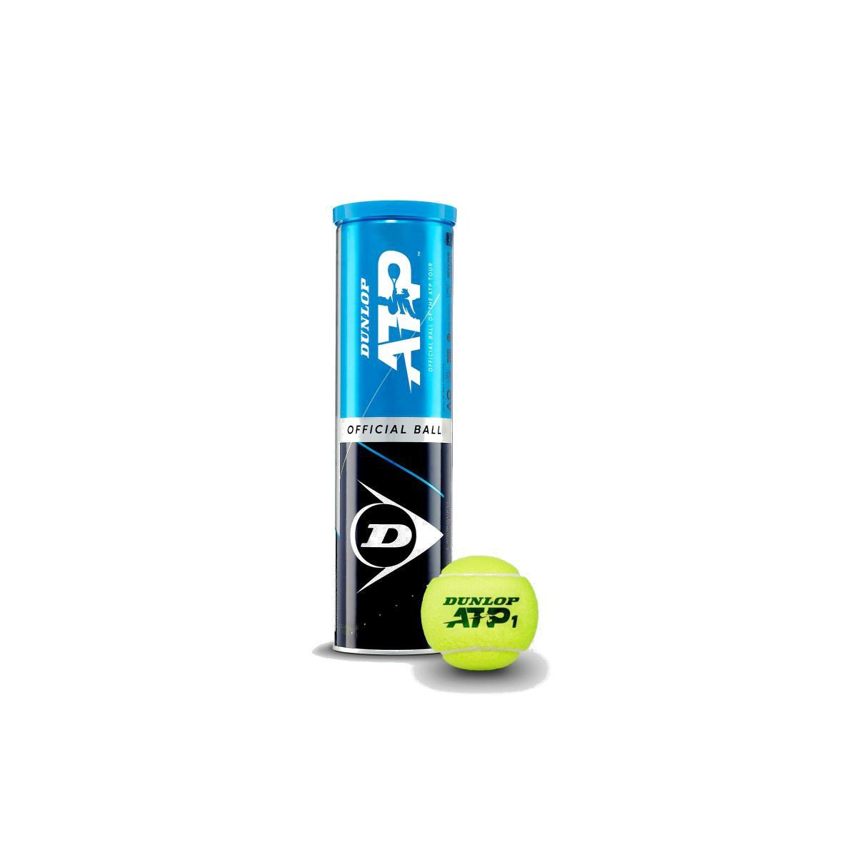 Dunlop Tennis Accessories – ATP Tennis Balls (4 balls per can)