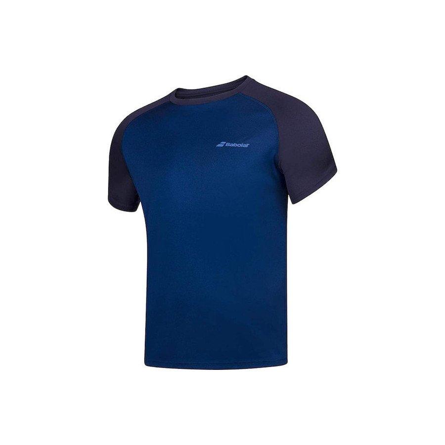 Babolat Men's Play Crew Neck Tennis T-Shirt (Dark Blue)