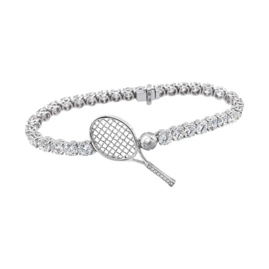 Diamond Tennis Bracelet (Let's Play Tennis) – 18 Karat Gold (TENNIS GIFTS)