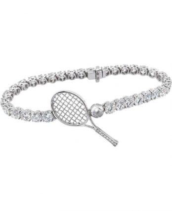 Diamond Tennis Bracelet (Let's Play Tennis), 18 Karat Gold