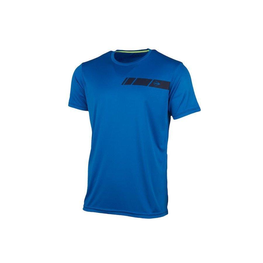 Dunlop Men's Crew Tee Club Line Tennis T-Shirt (Blue)