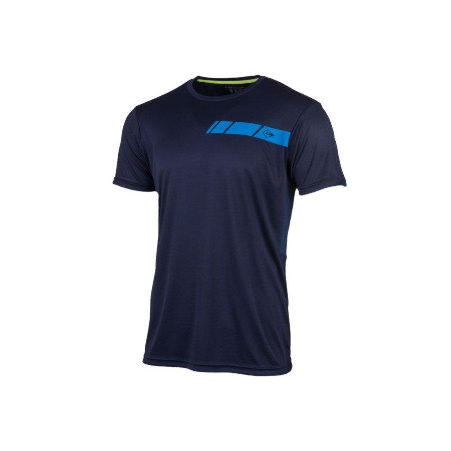 Dunlop Men's Crew Tee Club Line Tennis T-Shirt (Navy)