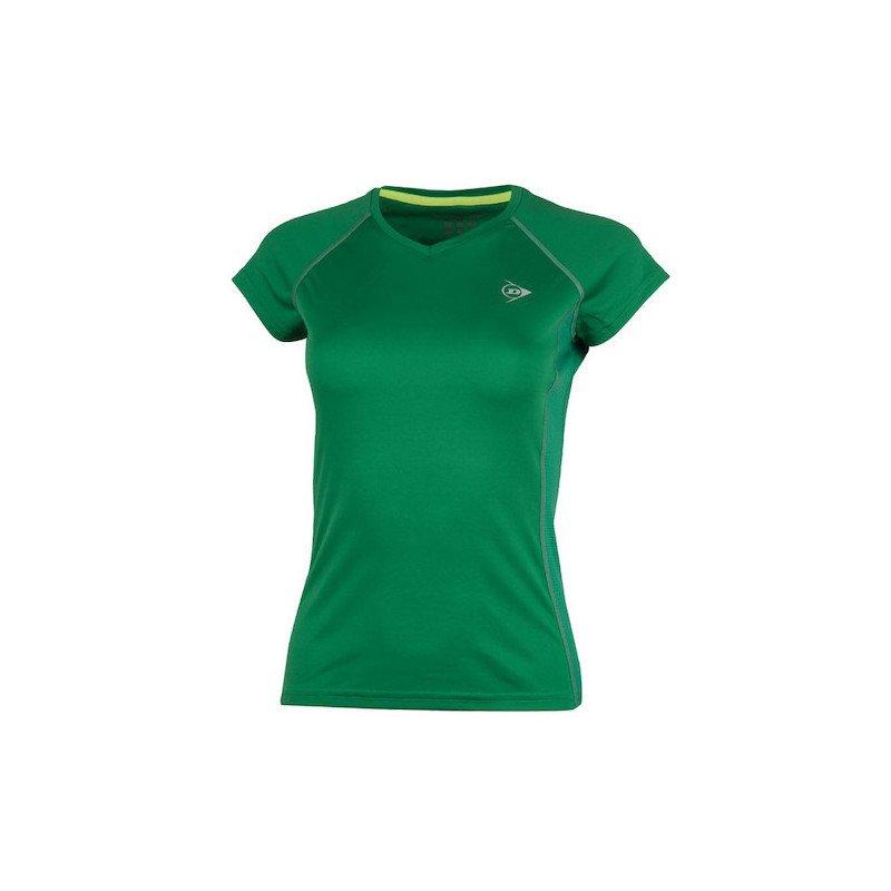 Dunlop WOMEN'S CREW TEE CLUB LINE Tennis T-Shirt (Green)
