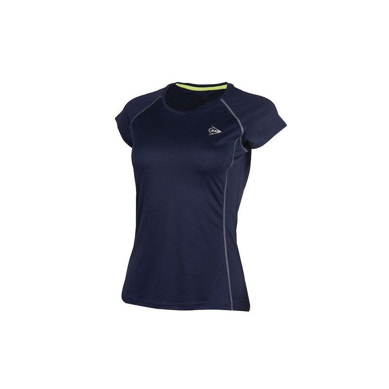 Dunlop WOMEN'S CREW TEE CLUB LINE Tennis T-Shirt (Navy)