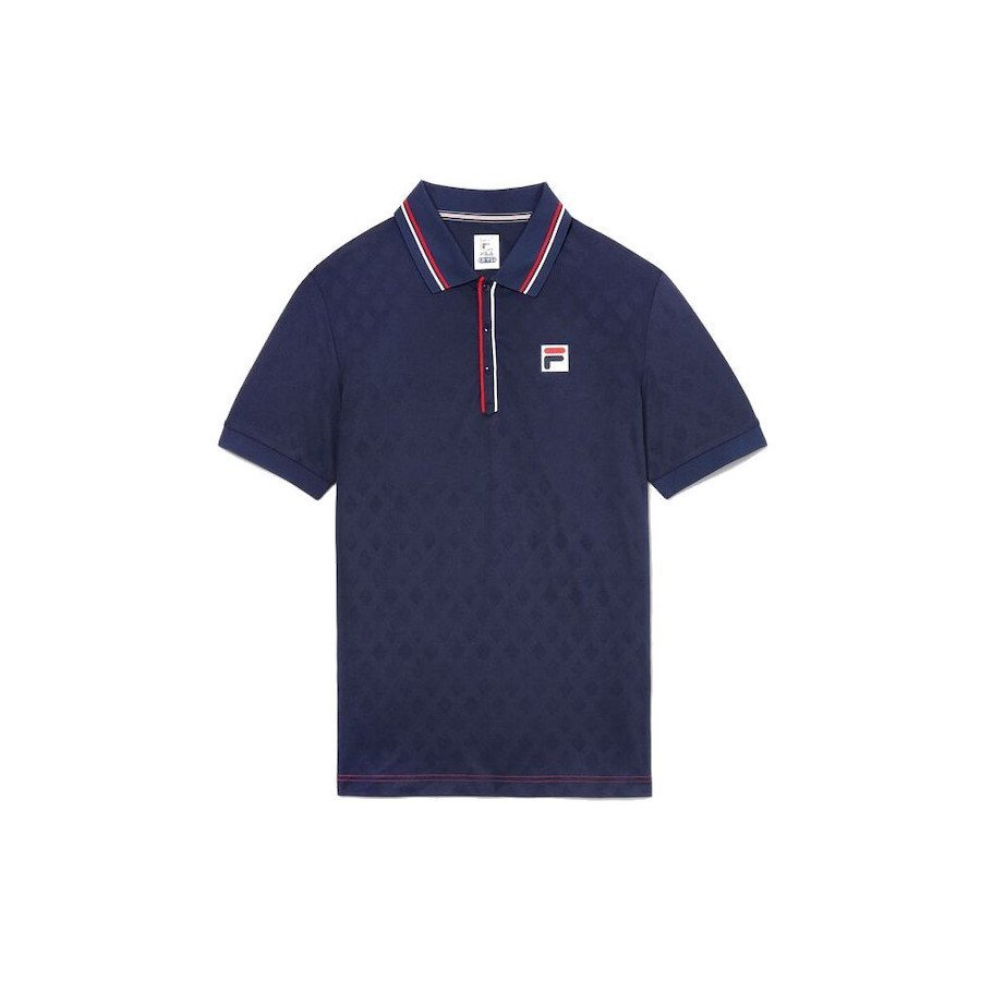 Fila Heritage Tennis Jacquard Polo Tennis Shirt