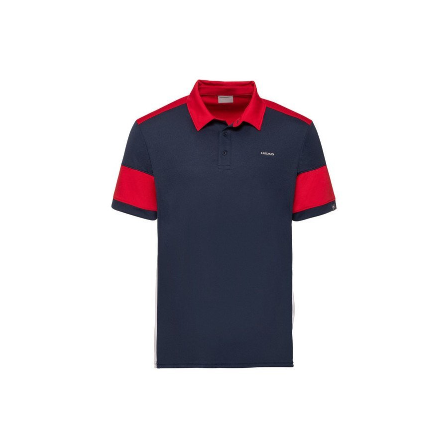 Head ACE Polo Tennis Shirt (Black & Red)