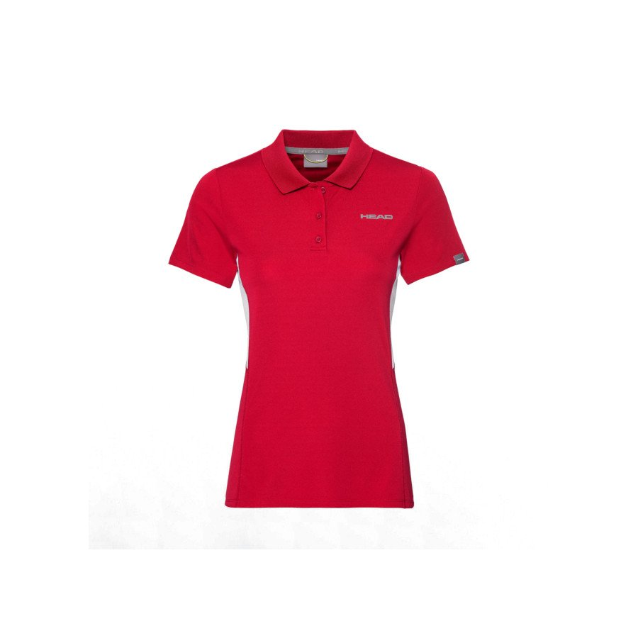Head Women's Club Tech Polo Tennis Shirt (red)