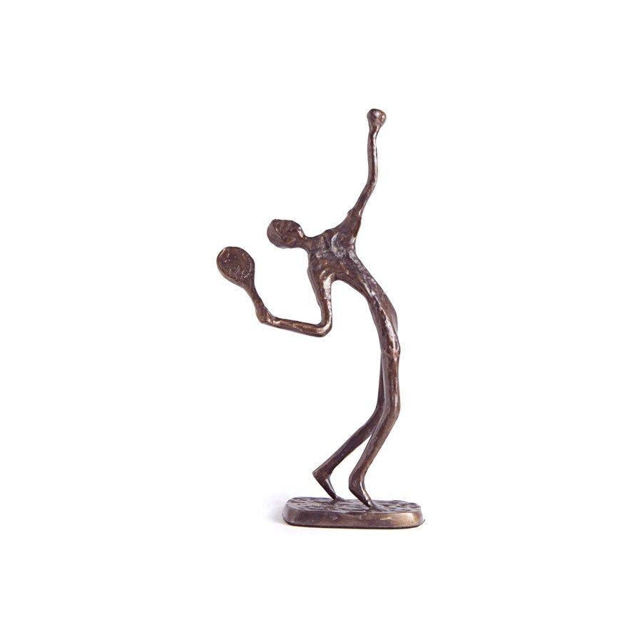 Male Tennis Player Figurine (tennis art)