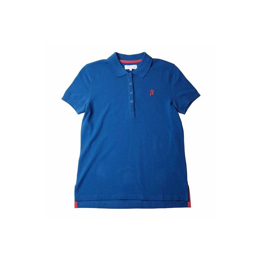 Prince Women's Blue Court Polo Tennis Shirt
