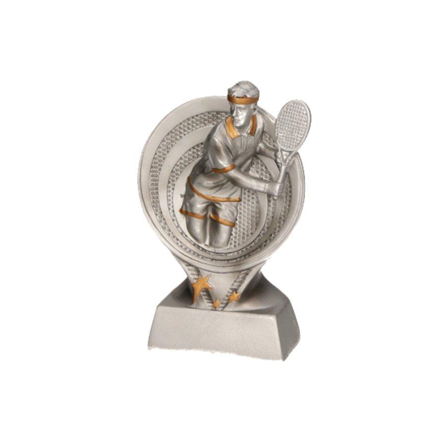 Tennis Resin Figurine with Male Figure (tennis art)