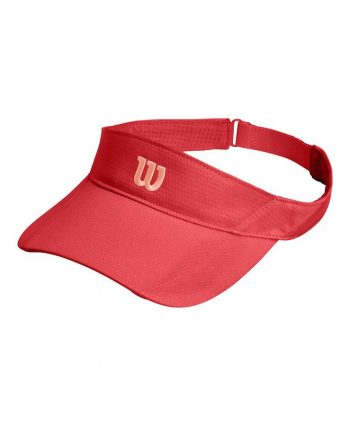 Tennis Visor – Wilson Rush Knit Ultralight (red)
