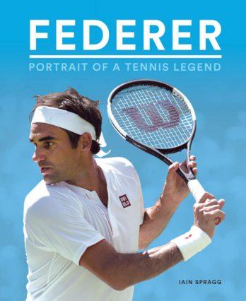 Tennis book titled 'Federer – Portrait of a Tennis Legend'