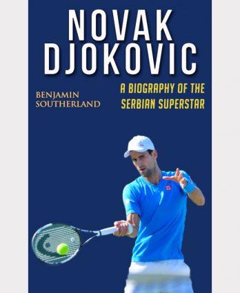 Tennis book titled 'Novak Djokovic – A Biography of the Serbian Superstar'