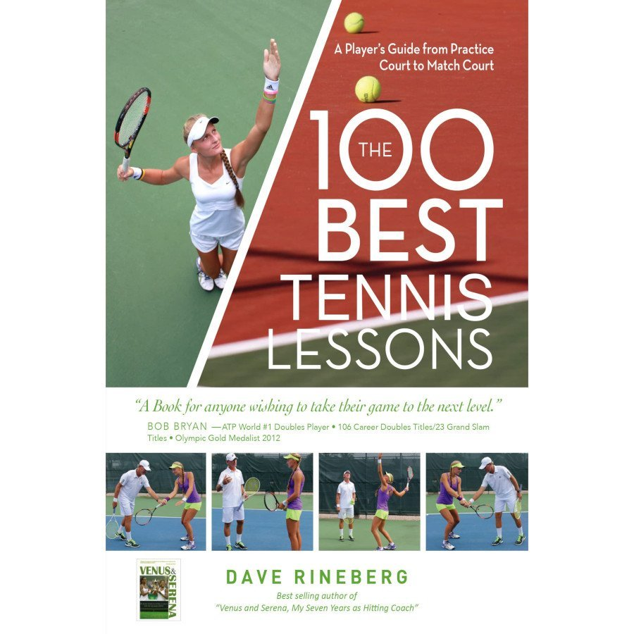 Tennis book titled 'The 100 Best Tennis Lessons'