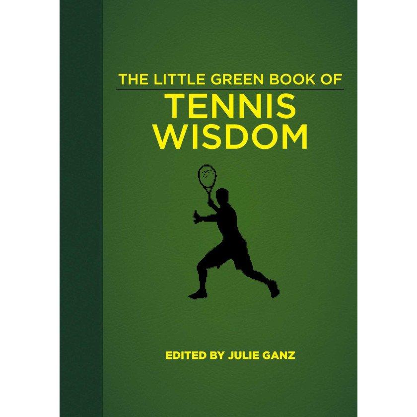 Tennis book titled 'The Little Green Book of Tennis Wisdom'