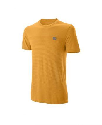 Wilson 2019 Men's Competition Seamless Crew Tennis T-Shirt (yellow)