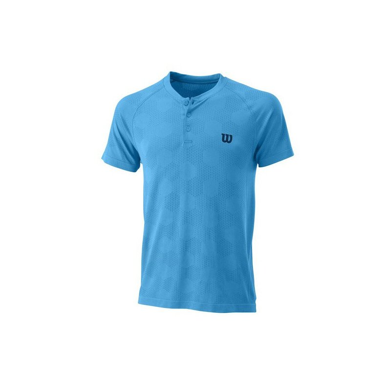 Wilson Men's Power Seamless Henley Tennis Shirt