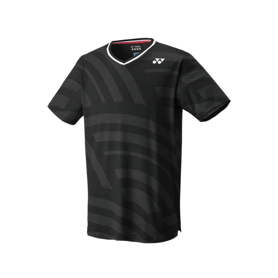Yonex Men's Crew Neck Tennis T-Shirt (Slim Fit) [black]