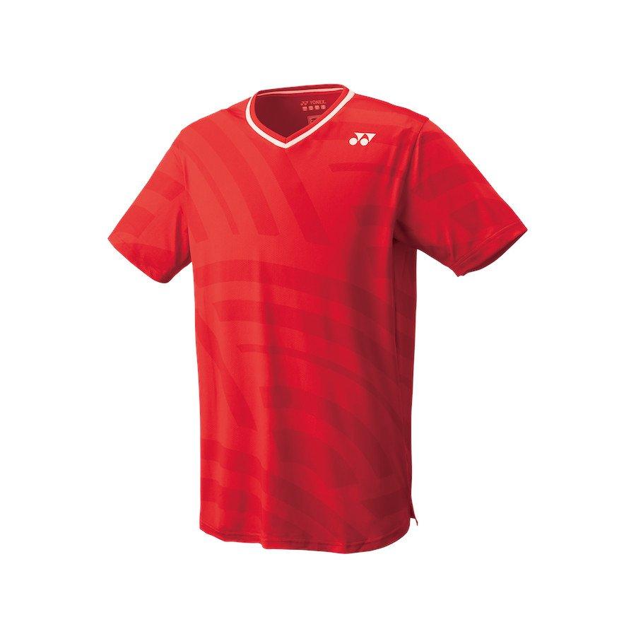 Yonex Men's Crew Neck Tennis T-Shirt (Slim Fit) [flash red]
