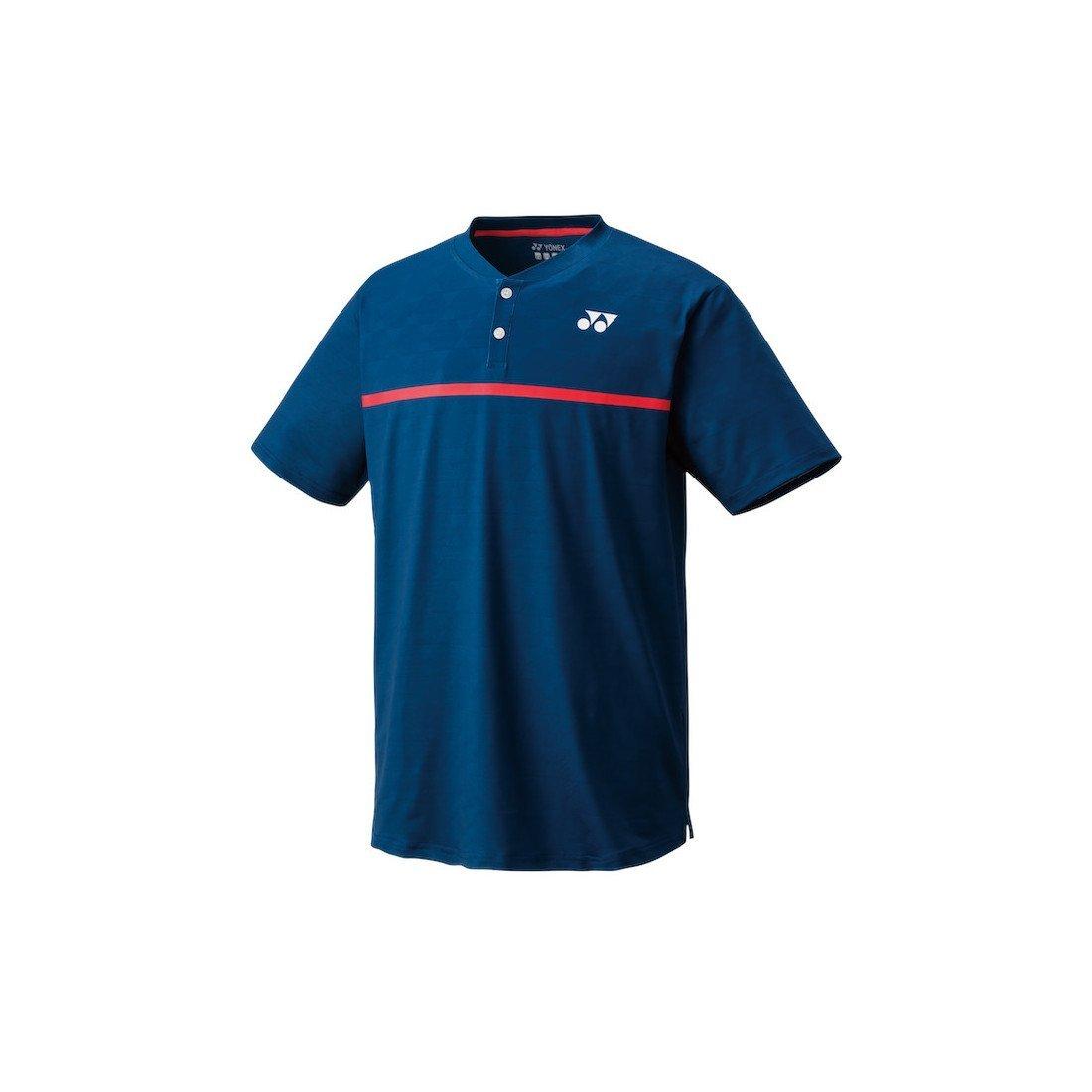 Yonex Men's Henley Tennis Shirt Slim Fit – Indigo Blue