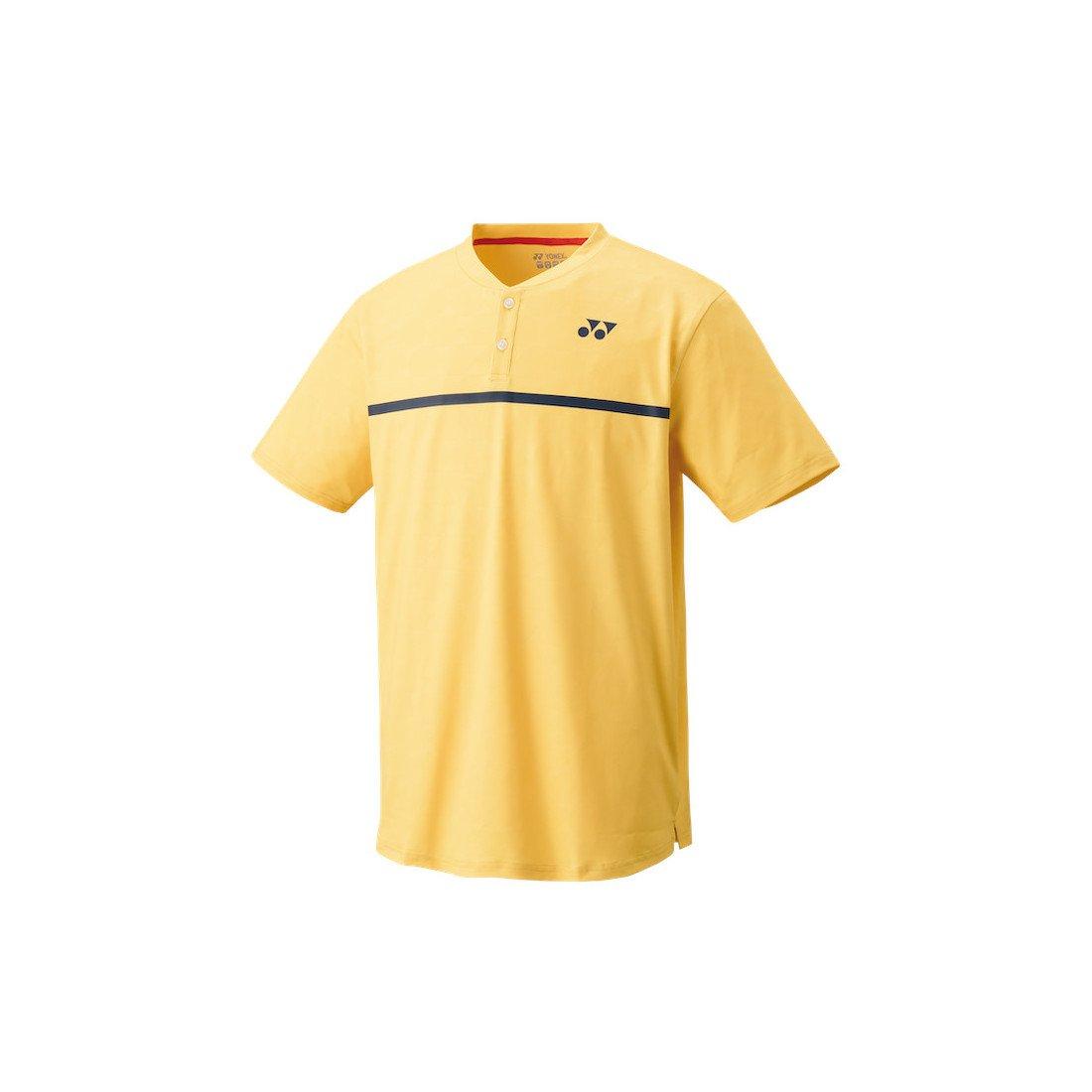 Yonex Men's Henley Tennis Shirt (Slim Fit) [soft yellow]