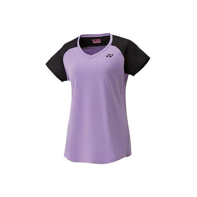 Yonex Women's Cap Sleeve Top Tennis T-Shirt (Light Purple)