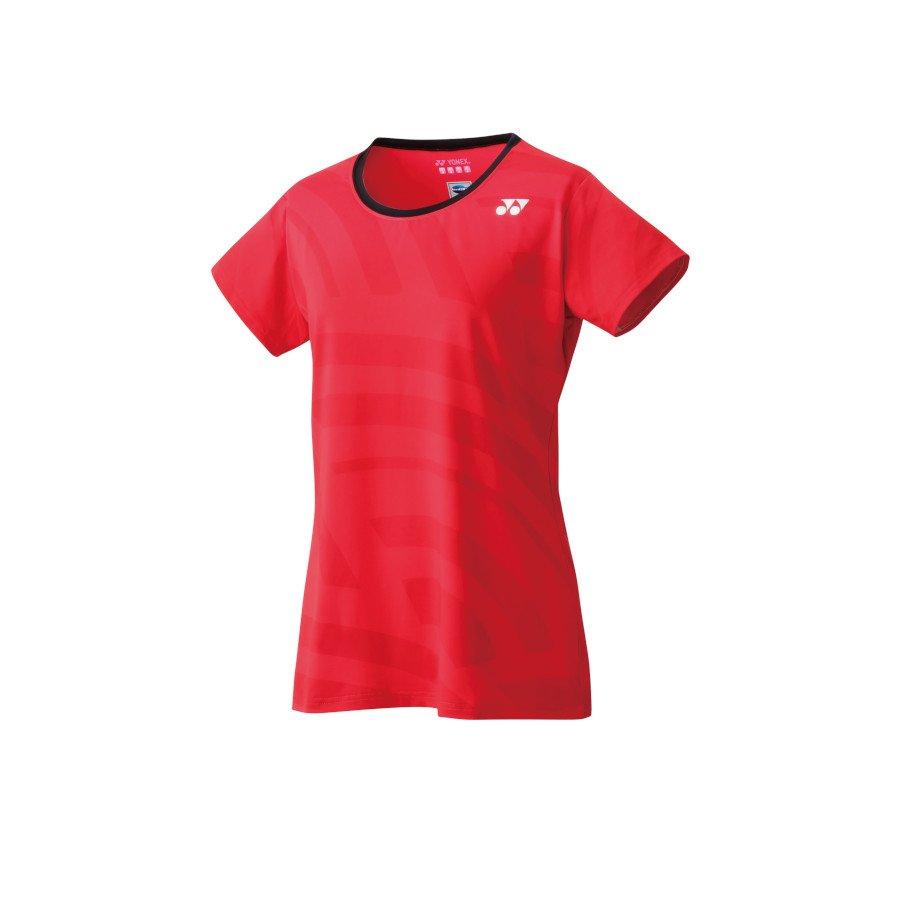 Yonex Women's Crew Neck Shirt Tennis T-Shirt (flash red)