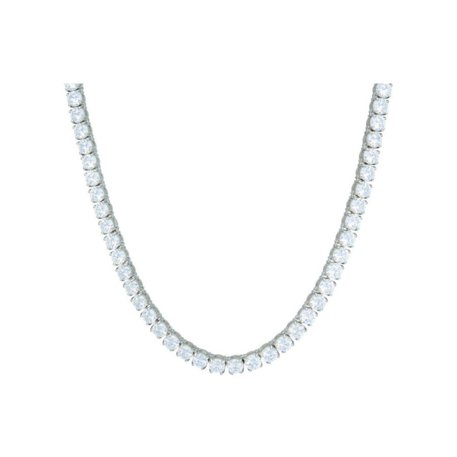 Diamond Tennis Chain – 18K White Gold