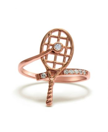 Gold tennis ring with genuine diamonds