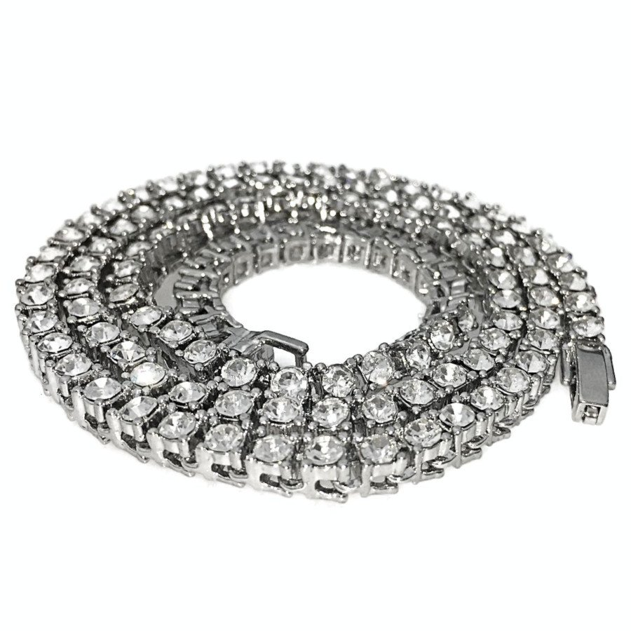 One-Row Silver Tennis Chain