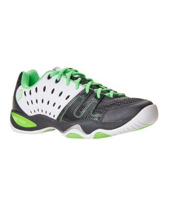 Prince Tennis Shoes – T22 Black-White-Energy-Green (Men)