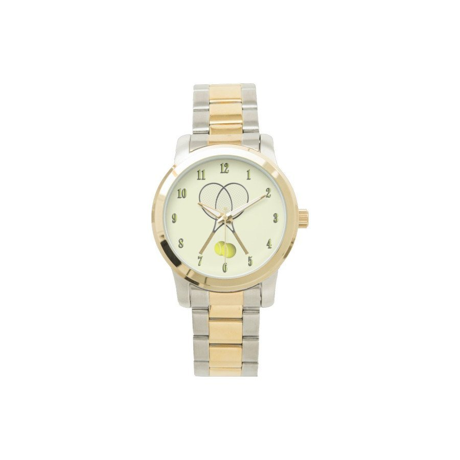 Tennis Watch with Two-Tone Stainless Steel Bracelet