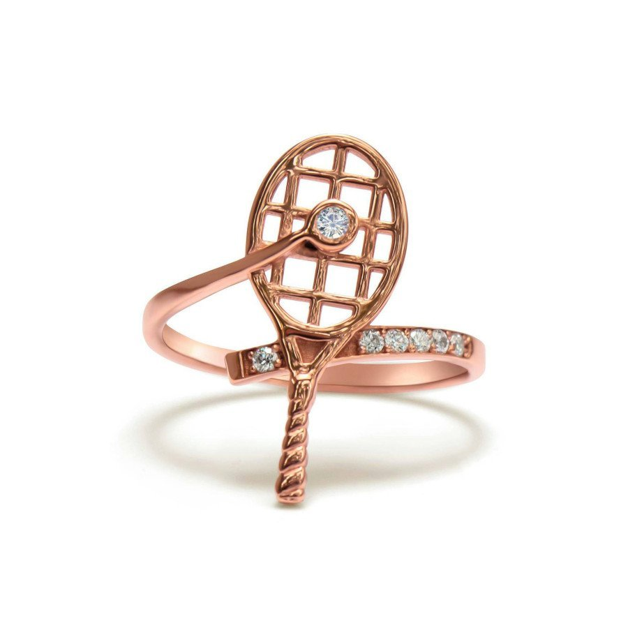 Tennis jewelry consisting of gold tennis ring with genuine diamonds