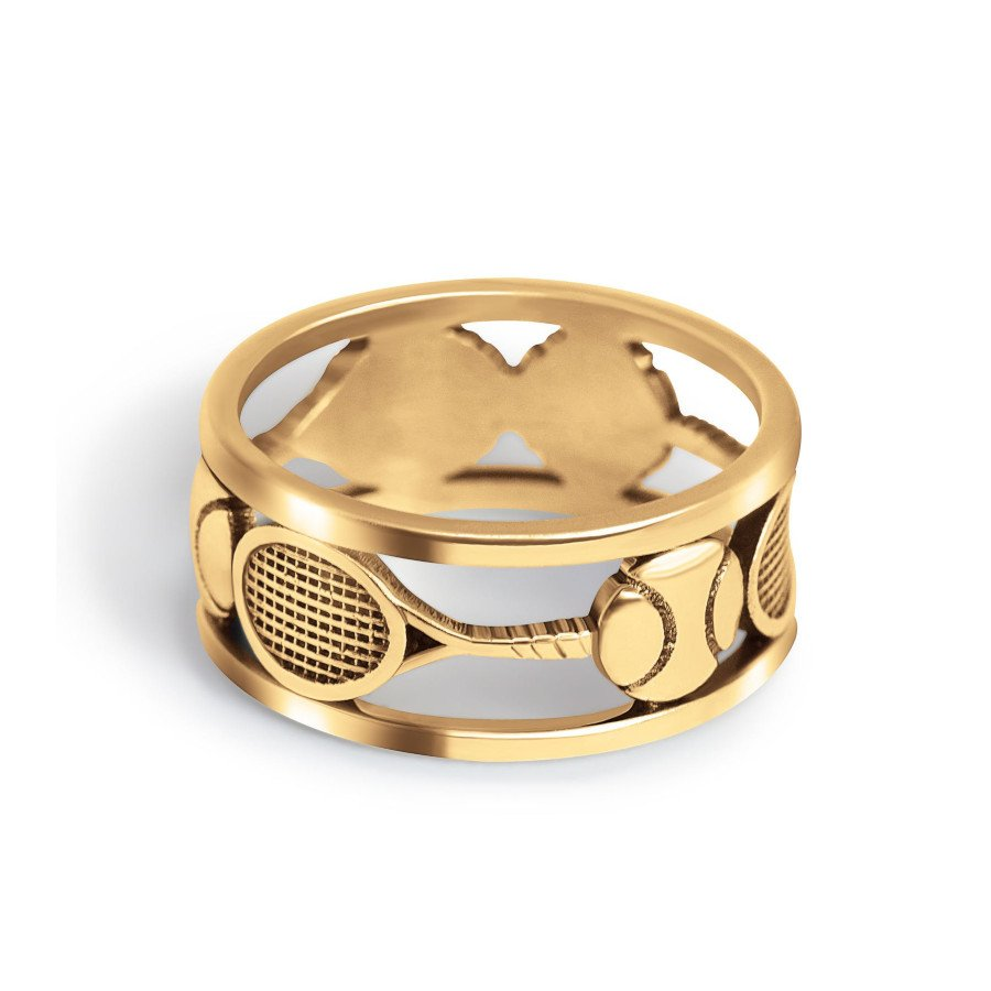 Tennis jewelry consisting of gold tennis ring