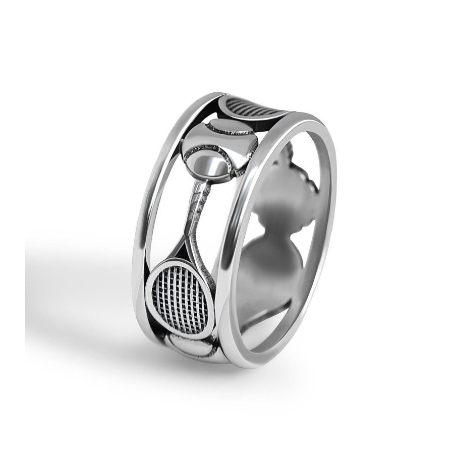 Tennis jewelry consisting of sterling silver tennis ring