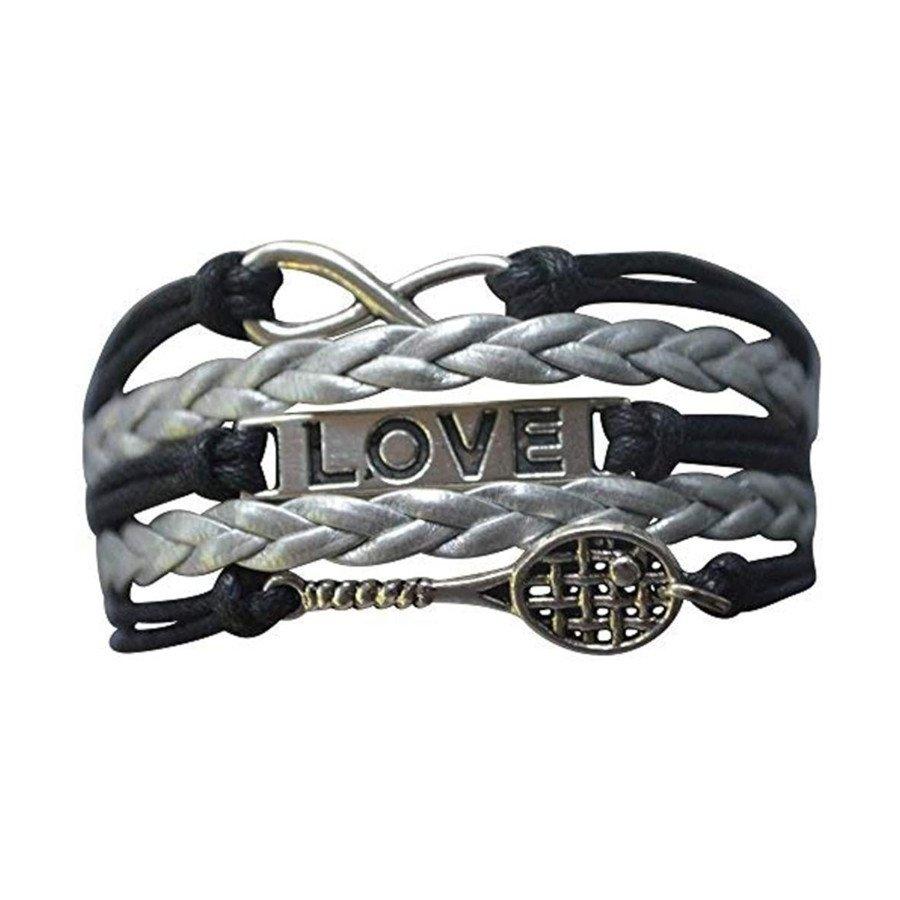 Tennis jewelry consisting of tennis Racket Charm Bracelet