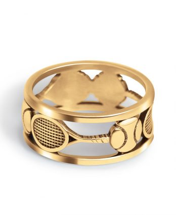 Tennis jewelry consisting of tennis ting in gold
