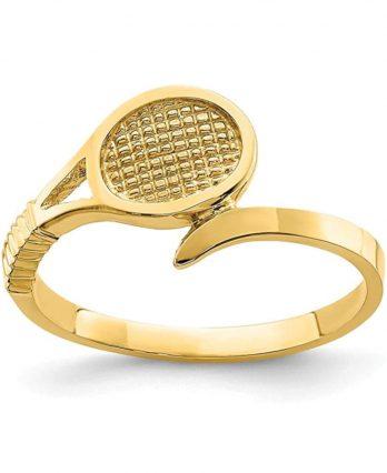 Yellow gold tennis ring (14K)