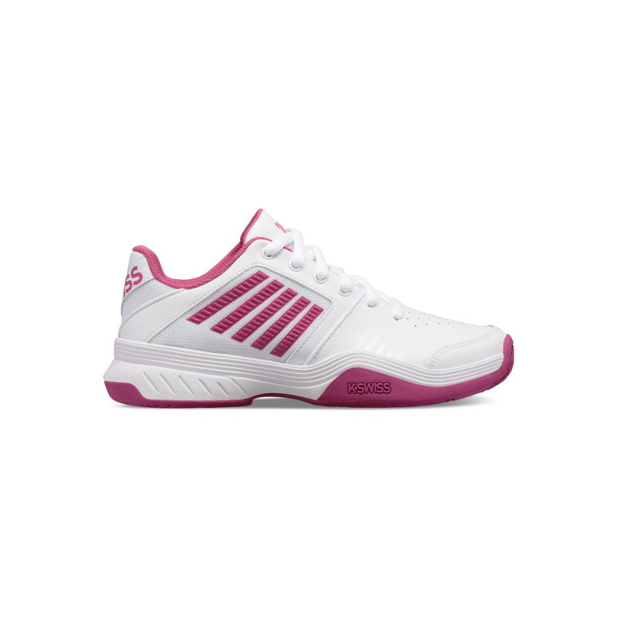 K-Swiss Tennis Shoes – Women's COURT EXPRESS (WHITE : CACTUS FLOWER)