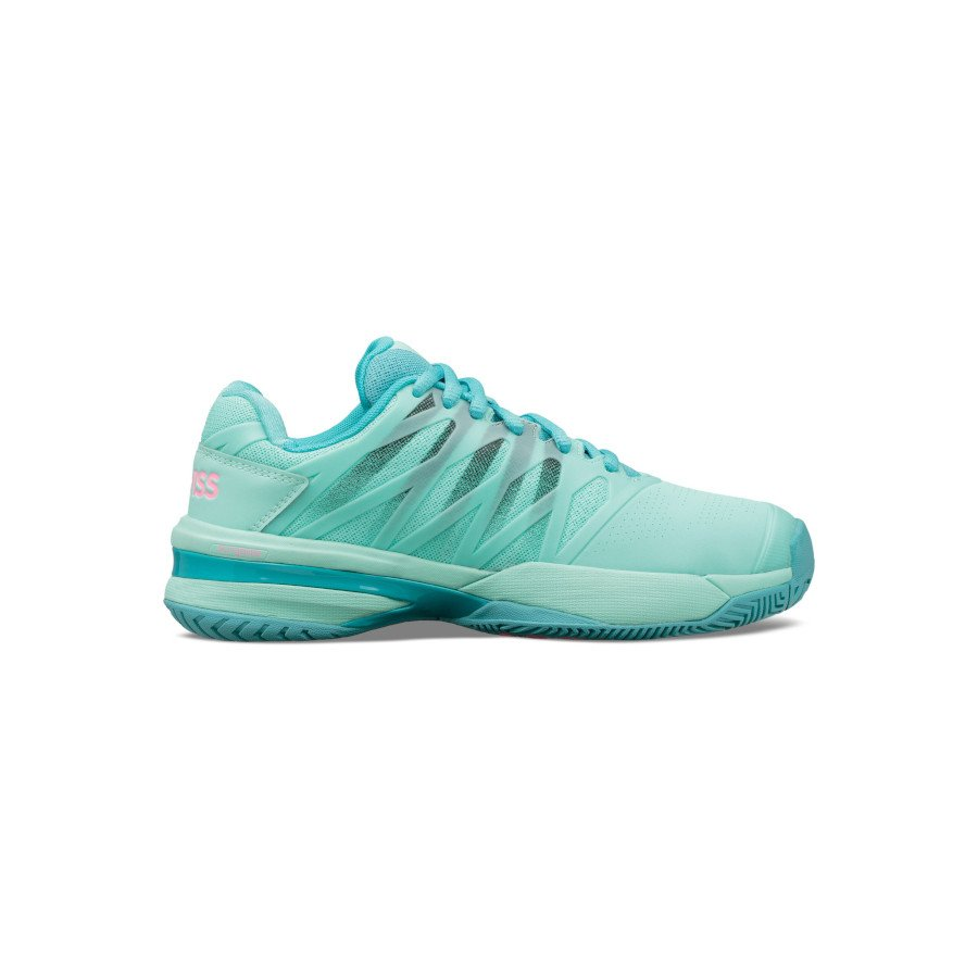 K-Swiss Tennis Shoes – Women's ULTRASHOT 2 (ARUBA BLUE : MALIBU BLUE : SOFT NEON PINK)
