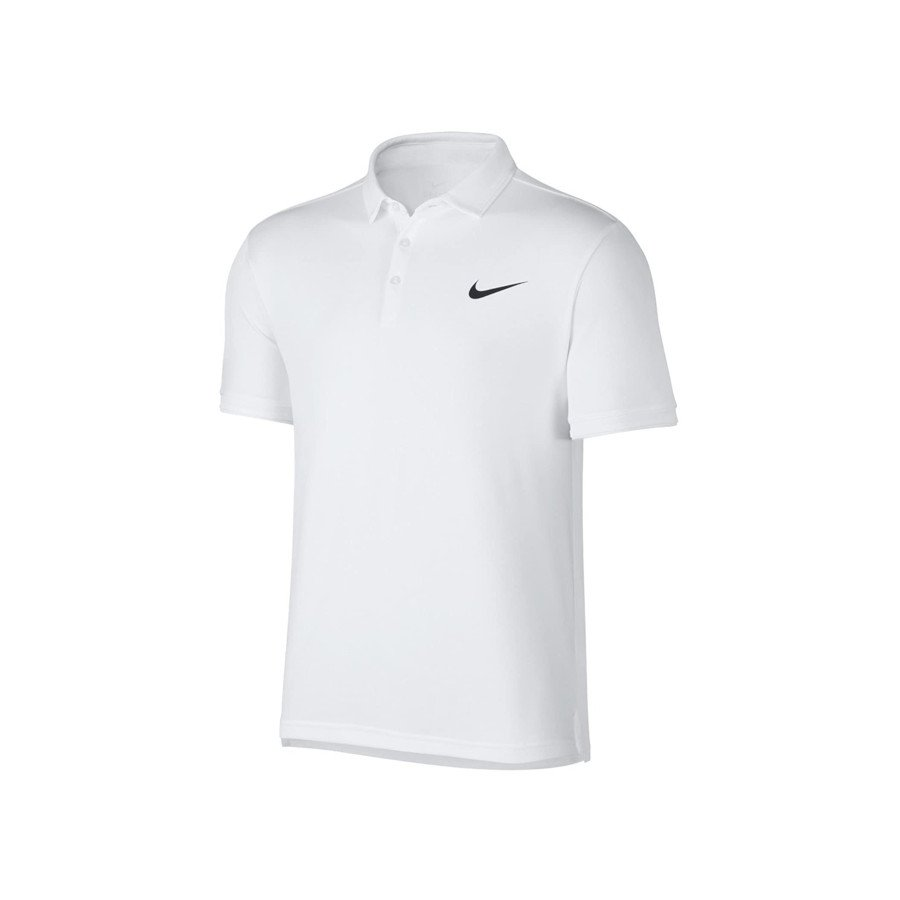 Nike Tennis Clothing – Men's Court Dry Polo Team Tennis Shirt (white)