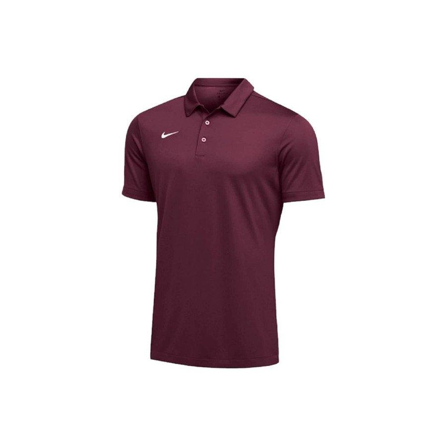 Nike Tennis Clothing – Men's Dri-FIT Short Sleeve Polo Shirt (Maroon)