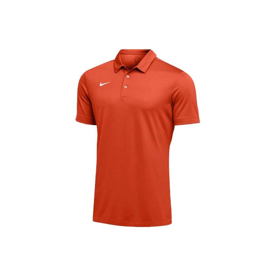 Nike Tennis Clothing – Men's Dri-FIT Short Sleeve Polo Shirt (Orange)