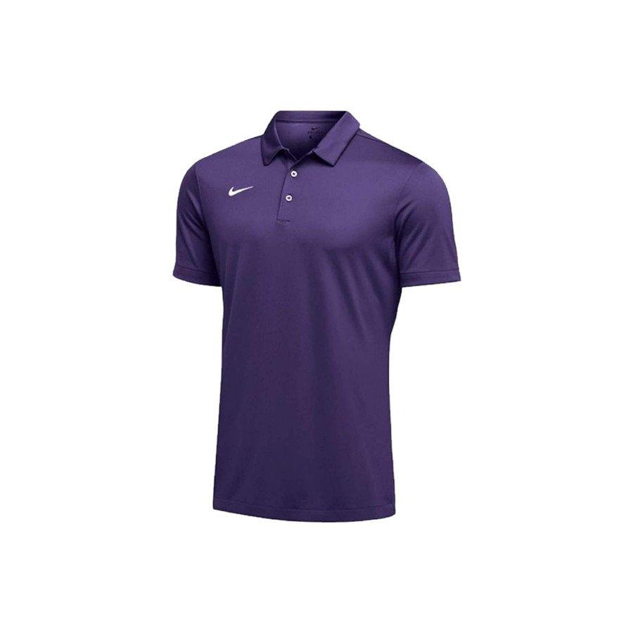 Nike Tennis Clothing – Men's Dri-FIT Short Sleeve Polo Shirt (Purple)